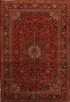 Persian Ardakan Red Rectangle 10x14 ft Wool Carpet 15677