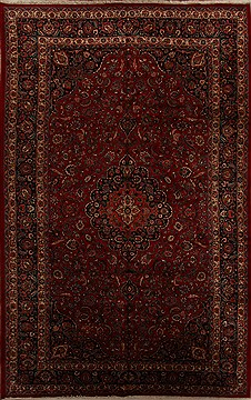"Najaf-abad Red Hand Knotted 9'10"" X 16'3""  Area Rug 251-15687"