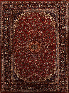 "Najaf-abad Red Hand Knotted 9'8"" X 13'8""  Area Rug 251-15706"