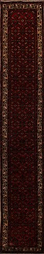 Persian Hamedan Red Runner 16 to 20 ft Wool Carpet 15711