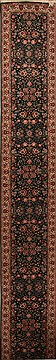 Chinese Sino-Persian Green Runner 16 to 20 ft Wool Carpet 15726