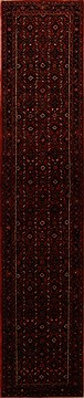 "Persian Hossein Abad  Wool Red Runner Area Rug  (3'1"" x 13'6"") - 251 - 15732"