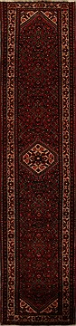 Persian Hossein Abad Red Runner 13 to 15 ft Wool Carpet 15735