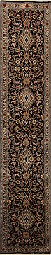 Persian Mashad Blue Runner 10 to 12 ft Wool Carpet 15751