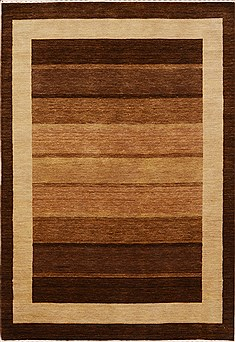 "Gabbeh Brown Hand Loomed 4'7"" X 6'9""  Area Rug 100-15754"