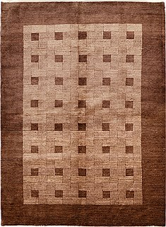 "Gabbeh Brown Hand Knotted 5'9"" X 7'8""  Area Rug 100-15756"