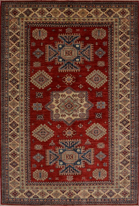 Kazak Red Hand Knotted 5 6