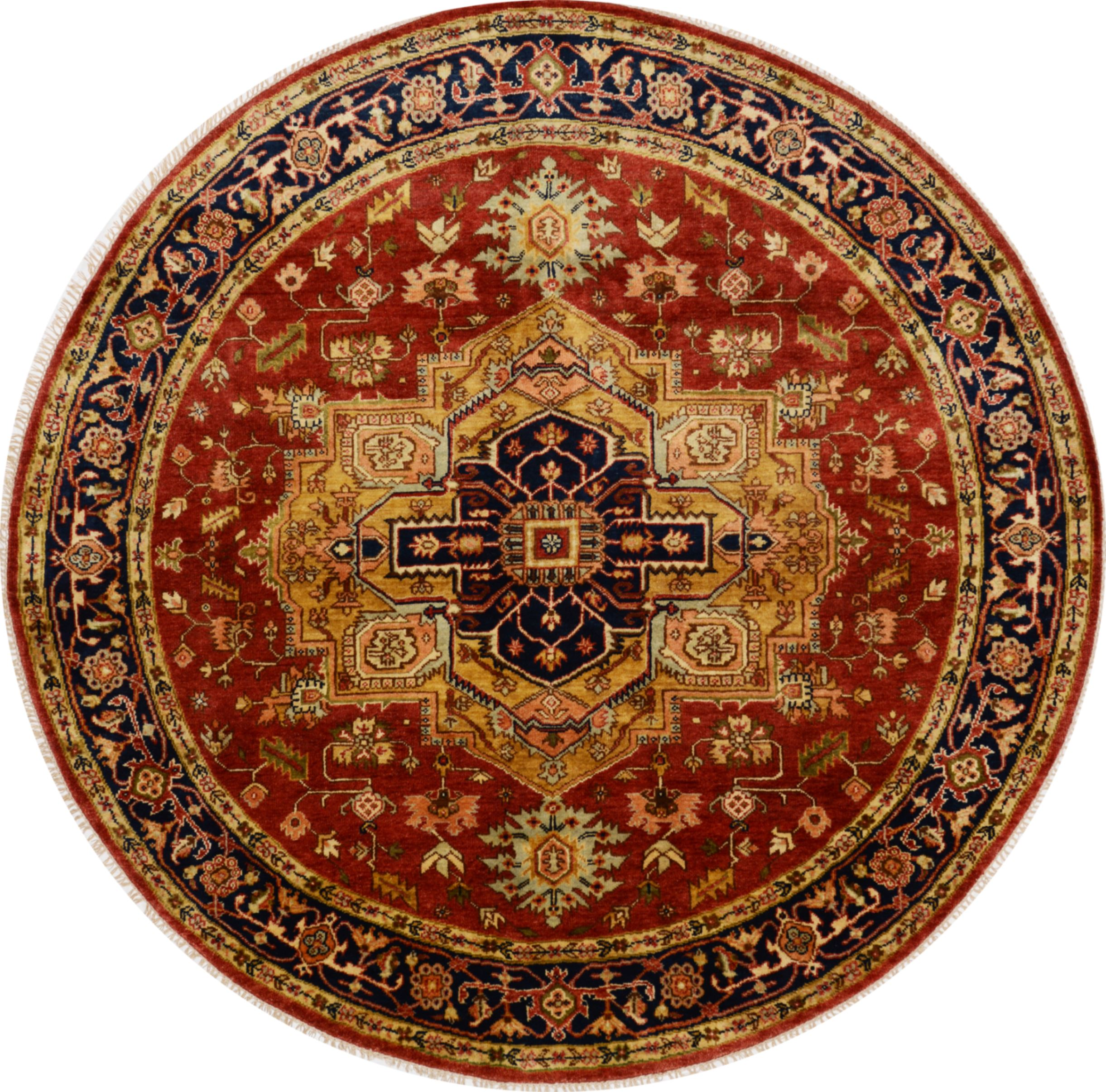 Area Rugs From India: Round Carpets India