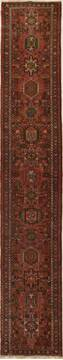 Persian Karajeh Red Runner 13 to 15 ft Wool Carpet 15779
