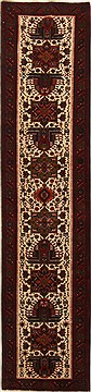 Persian Karajeh Beige Runner 13 to 15 ft Wool Carpet 15781
