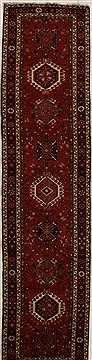 Persian Karajeh Red Runner 13 to 15 ft Wool Carpet 15814