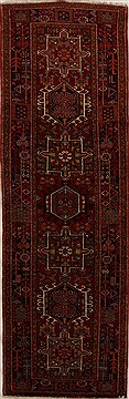 Persian Karajeh Red Runner 10 to 12 ft Wool Carpet 15830