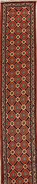 "Mahal Orange Runner Hand Knotted 2'8"" X 24'1""  Area Rug 250-15844"
