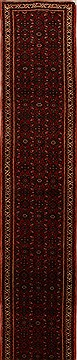 Persian Hossein Abad Red Runner 16 to 20 ft Wool Carpet 15847