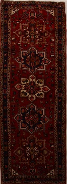 Persian Heriz Red Runner 10 To 12 Ft Wool Carpet 15880