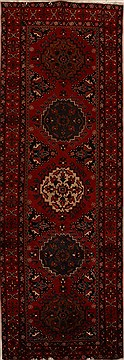 Persian Hamedan Red Runner 10 to 12 ft Wool Carpet 15891