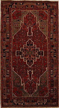 Persian Hamedan Red Runner 10 to 12 ft Wool Carpet 15918