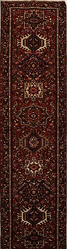 "Karajeh Red Runner Hand Knotted 3'8"" X 14'4""  Area Rug 250-15925"