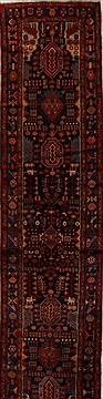 "Mussel Black Runner Hand Knotted 3'6"" X 15'8""  Area Rug 250-15930"