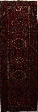 Persian Karajeh Red Runner 10 to 12 ft Wool Carpet 15935