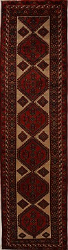 Persian Hamedan Beige Runner 13 to 15 ft Wool Carpet 15936