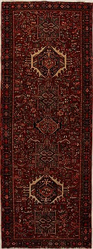 Persian Karajeh Red Runner 10 to 12 ft Wool Carpet 15937