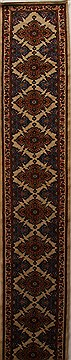 Persian Hamedan Beige Runner 26 ft and Larger Wool Carpet 15940