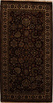 Indian Indo-Persian Red Rectangle 5x8 ft Wool Carpet 15948