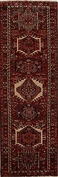 "Karajeh Red Runner Hand Knotted 3'8"" X 11'6""  Area Rug 250-15954"