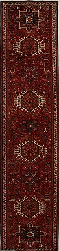 Persian Karajeh Red Runner 10 to 12 ft Wool Carpet 15958