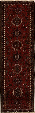 "Karajeh Red Runner Hand Knotted 3'3"" X 10'3""  Area Rug 250-15962"