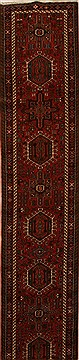 Persian Karajeh Red Runner 16 to 20 ft Wool Carpet 15966