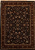 Indo-Persian Black Hand Knotted 51 X 71  Area Rug 250-15968 Thumb 0
