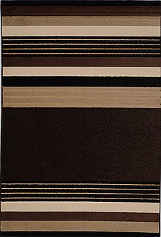"Modern Black Machine Made 5'2"" X 7'6""  Area Rug 100-15977"