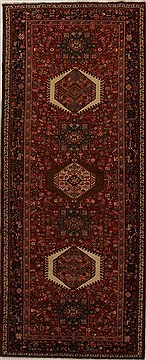"Karajeh Red Runner Hand Knotted 5'1"" X 12'8""  Area Rug 250-16006"