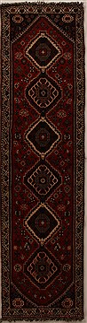 Persian Shiraz Red Runner 10 to 12 ft Wool Carpet 16057