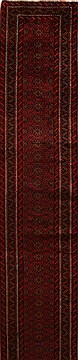 """Persian Hamedan  Wool Multi-Color Runner Area Rug  (3'1"""" x 17'8"""") - 250 - 16058"""