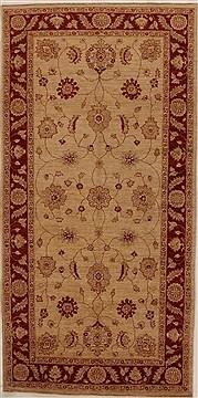 """Pakistani Pishavar  Wool Beige Area Rug  (4'10"""" x 9'9"""") - 250 - 16062"""