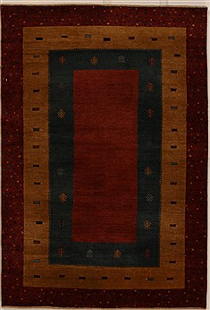Indian Gabbeh Multicolor Rectangle 4x6 ft Wool Carpet 16091