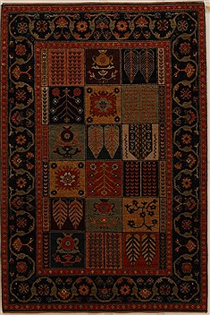Indian Gabbeh Multicolor Rectangle 4x6 ft Wool Carpet 16111