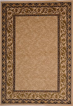 "Pishavar Beige Machine Made 5'3"" X 7'7""  Area Rug 100-16213"