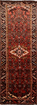 Persian Hamedan Red Runner 10 to 12 ft Wool Carpet 16336