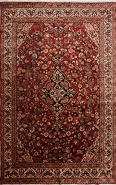 Persian Moshk Abad White Rectangle 7x10 ft Wool Carpet 16341