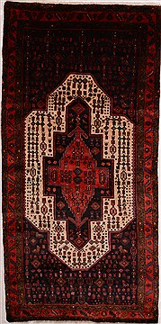 "Ghoochan Red Runner Hand Knotted 4'11"" X 10'0""  Area Rug 100-16351"