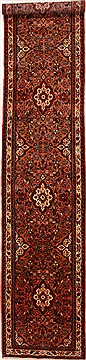 Persian Hamedan Purple Runner 13 to 15 ft Wool Carpet 16384