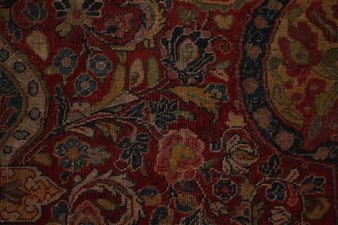 Persian Sarouk Red Rectangle 9x13 Ft Wool Carpet 16737