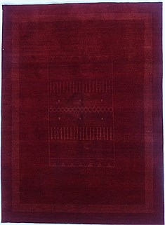 Indian Gabbeh Orange Rectangle 5x7 ft Wool Carpet 16878