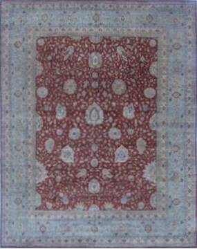 Indian Haji Jalili Brown Rectangle 12x15 ft Wool Carpet 16887