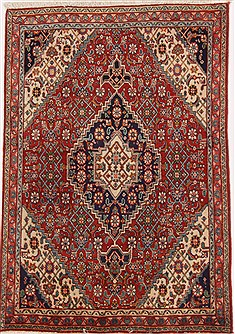 Persian Tabriz Brown Rectangle 3x5 ft Wool Carpet 17081