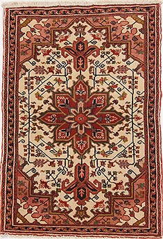 Persian Goravan Beige Rectangle 3x5 ft Wool Carpet 17110